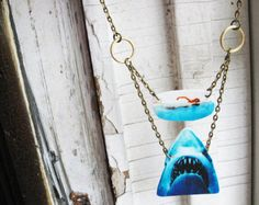 Statement Jewelry Shark Animal Necklace Jaws Geekery Women Swimming Girl Unique Weird Gift
