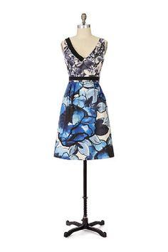 New $158 Anthropologie Moulinette Soeurs Indigo Garden Dress Sz 6 Super RARE | eBay