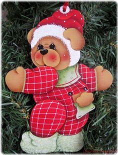 HP Teddy Bear Christmas Pajamas Ornament | eBay