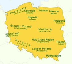 Regions of Poland - simple map