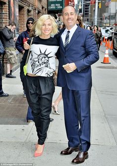 Is that fair: Jessica Seinfeld stole attention away from her famous husband Jerry at The L...
