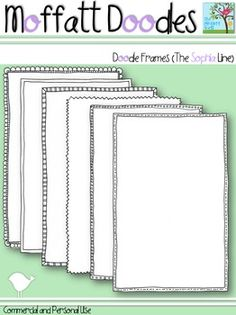The Moffatt Girls: Moffatt Doodles Borders For Paper, Borders And Frames, Free Frames, 2nd Grade Reading Comprehension, School Fonts, Doodle Frames, Free Printable Art, Teacher Created Resources, Police
