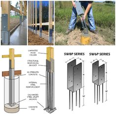 fence metal footings brackets - Google Search