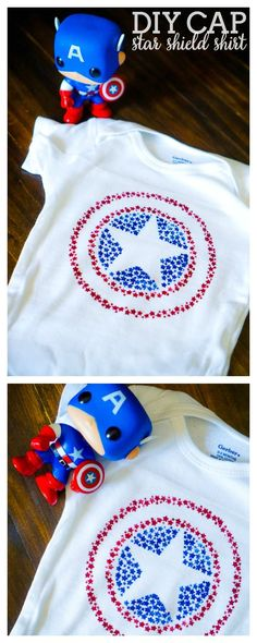 Captain America Star Shield Shirt - Celebrate your love for Captain America with this Patriotic Cap Shield Shirt that is also perfect for 4th of July! | The Love Nerds
