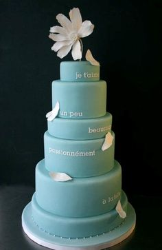 Wedding cake with a bit of a poem by Catullus on it. Very sweet. #outlander