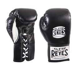 Titanium Cleto Reyes Official Leather Lace Up Boxing Gloves