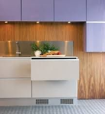 Norcool Fridge Hides Food in Cold Drawers Farmhouse Furniture, Kitchen Furniture, Kitchen Interior, Kitchen Design, Office Furniture, Small Fridge Freezer, Refrigerator Freezer, Discount Furniture Stores, Wholesale Furniture