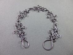 Gunmetal Combination Style Wire Wrapped Bracelet, Wire Wrapping, Bracelets, Silver, Jewelry, Style, Fashion, Bangles, Jewlery