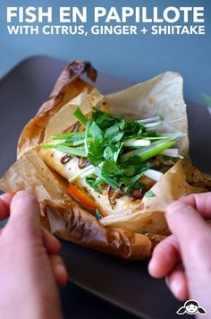 Fish en Papillote (in Parchment) with Citrus, Ginger, & Shiitake - Nom Nom Paleo® Fish Recipes, Seafood Recipes, Paleo Recipes, Nom Nom Paleo, Paleo Dinner, Dinner Recipes, Fish Dishes, Whole 30 Recipes, Fish And Seafood