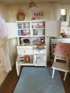 Miniature Dollhouse China Hutch White by RibbonwoodCottage on Etsy