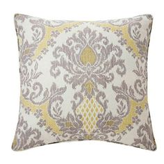 Have to have it. Jiti Ikat Grey Linen Pillow $113.99