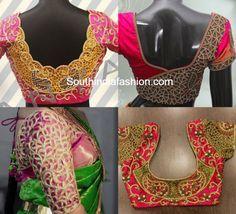 Cut Work Blouse Designs for Silk Sarees