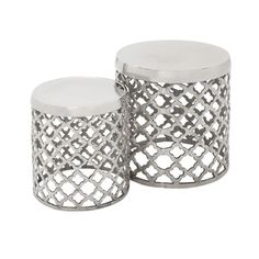 Shop for Casa Cortes Aluminum Round Drum Stool - Set of 2. Get free shipping at Overstock.com - Your Online Furniture Outlet Store! Get 5% in rewards with Club O!