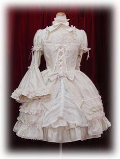 white rococo dress #lolita
