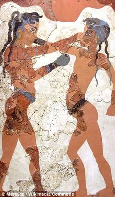 The Minoan civilisation arose on the Mediterranean island of Crete in approximately the century BC and flourished for 12 centuries. (A Minoan fresco is pictured) Greek History, Ancient History, Art History, Ancient Greek Art, Ancient Greece, Knossos Palace, Arte Latina, Minoan Art, Bronze Age Civilization