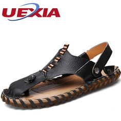 ddbfda22137da3 Fashion Designer Outdoor Casual Flip Flops Men Shoes Comfortable Beach  Slippers Massage Rubber Bottom Leather Handmade
