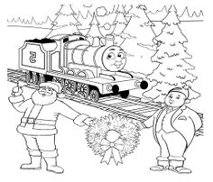 Thomas And Friends Two Old Man Coloring Page