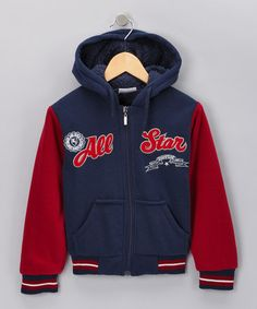 Take a look at this Navy 'All Star' Zip-Up Hoodie - Boys by Blow-Out on #zulily today! #Fall