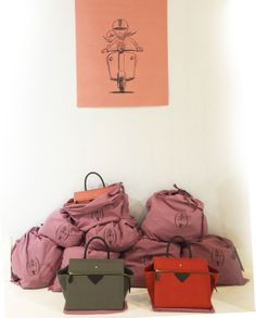2014S/S Who's Next Show  wax canvas bag ANNE