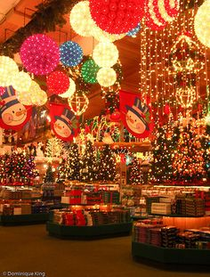 Frankenmuth, and especially Bronners. I love Christmas stuff