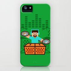 Minecraft music box iPhone & iPod Case by Budi Satria Kwan - $35.00