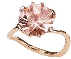 Dior Oui morganite pink gold ring.