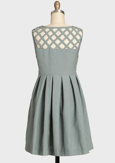 Lily Pleated Dress In Gray By Dear Creatures   Modern Vintage Dresses