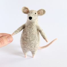 Myška s šálou / Zboží prodejce kiariku | Fler.cz Dinosaur Stuffed Animal, Toys, Animals, Animales, Animaux, Gaming, Games, Toy, Animais