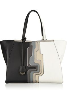 Fendi | 2Jours large leather shopper | NET-A-PORTER.COM