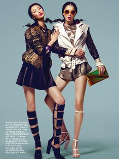 true colors: sung hee kim, wang xiao and jay shin by kevin sinclair for elle vietnam march 2013 Foto Fashion, High Fashion, Fashion Beauty, Womens Fashion, Fashion Poses, Fashion Shoot, Editorial Fashion, Teen Vogue, Sinclair