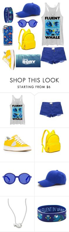 """Finding Dory!"" by designer01kitty on Polyvore featuring Fifth Sun, Current/Elliott, Philippe Model, Tommy Hilfiger, Etnia Barcelona, Alex Woo, Disney, OtterBox, FindingDory and Justkeepswimming"