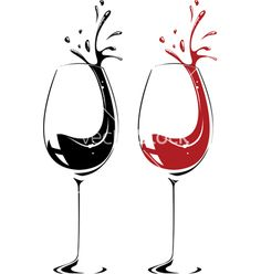 Wine glass vector 88799 - by karlovserg on VectorStock®
