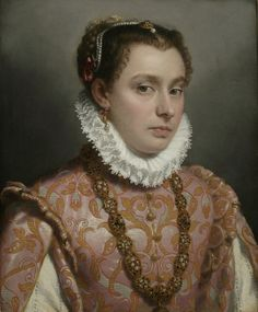 1564-1570 Giovanni Battista Moroni - Portrait of a Young Woman