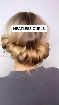 Curly Hair Tips, Easy Hairstyles For Long Hair, Cute Hairstyles, Curly Hair Styles, Natural Hair Styles, Oily Hair Hairstyles, Pretty Hairstyles For School, Going Out Hairstyles, Heatless Hairstyles