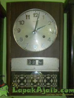 Jam Dinding Bandul Antik Lubang Dua Seiko 30 Day # 9