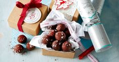 Give a gift to remember with these decadent salted caramel and dark chocolate rum balls.