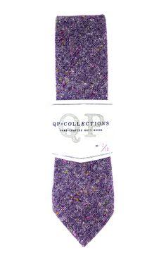 Wool Tweed Necktie - Purple