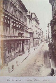 1865 circa autore non identificato . Via del Corso. Old Photographs, Old Photos, War Photography, Bucharest, Back In The Day, Exterior, History, Architecture, City