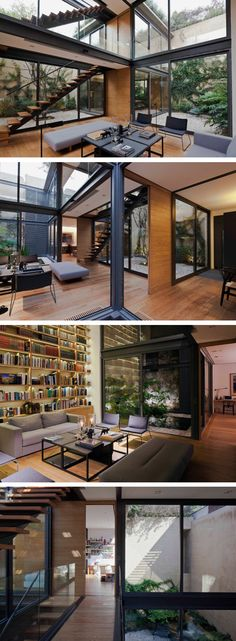 Gleaming Glass: A House with Four Green Courtyards Read more: http://dornob.com/gleaming-glass-a-house-with-four-green-courtyards/#ixzz42t1I4hrR