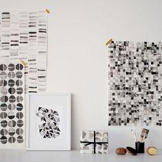diy potato prints + gift wrap