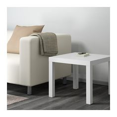 LACK Side table, white white 21 5/8x21 5/8 (IKEA)--only $7.99 for this side table! Could cover the top with marble contact paper to make it look more chic
