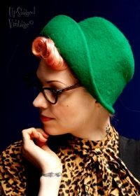 1960s Green Felt Demi-Cloche Hat  £20 from Upstaged Vintage