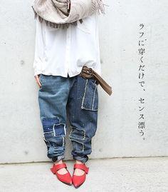 "osharewalker | Rakuten Global Market: I only wear it roughly, and there is a sense. ""kOhAKU vintage design denim underwear"""