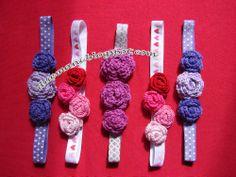 Handmade Cristina Small Flower crochet headband