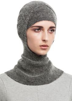 Dominica grey melange modern hood with an inner beanie #AcneStudios #PreFall2014 #hat #accessories