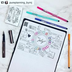 @pureplanning_bymj never disappoints. Behold her elegant #calendarwheel. I need…