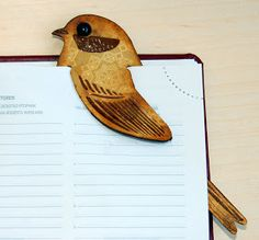 Gift Idea for the Introvert: bird bookmark