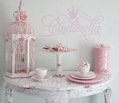 """""""Cinderella"""" Girls room vinyl lettering home decor wall decals at Lacy Bella. See more designs at: http://www.lacybella.com/item_2022/Cinderella.htm"""