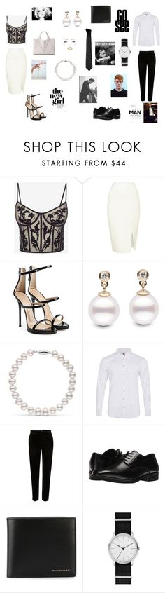 """""""Elegance contest"""" by withered-faces on Polyvore featuring Alexander McQueen, Giuseppe Zanotti, Labinjoh London, River Island, Stacy Adams, Burberry, Skagen y Versace"""