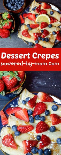 Crepes are delicious to serve for dessert, breakfast or special occasions. Even dinner for savory crepes! Perfect for special occasions like Easter, or the 4th of July. #recipe #desserts #dessert #crepes #crepe #dessertcrepes #breakfast #breakfastrecipes #breakfastlovers